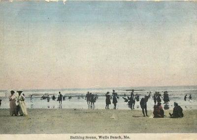Bathing Scene Wells Beach