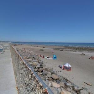 Deck View Toward Beach And Ocean