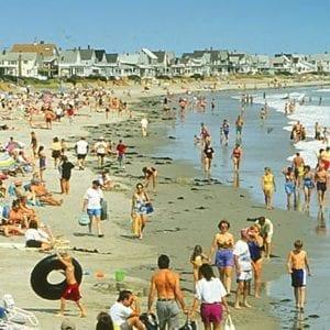 Wells Beach On A Summer Day